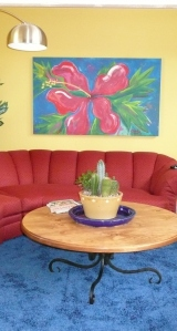 I Want a Painting for My Red Sofa